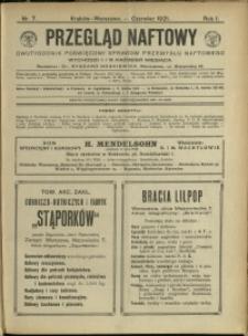 Przegląd Naftowy : 1921 : nr 7