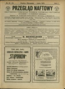 Przegląd Naftowy : 1921 : nr 9-10