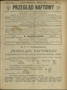Przegląd Naftowy : 1921 : nr 11-12