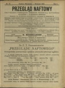 Przegląd Naftowy : 1921 : nr 13
