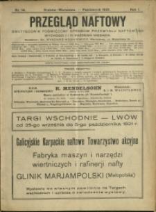 Przegląd Naftowy : 1921 : nr 14