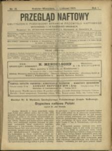 Przegląd Naftowy : 1921 : nr 15