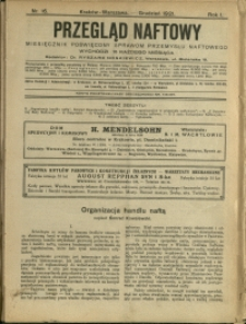 Przegląd Naftowy : 1921 : nr 16