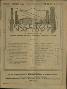 Przemysł Naftowy : 1926 : nr 4