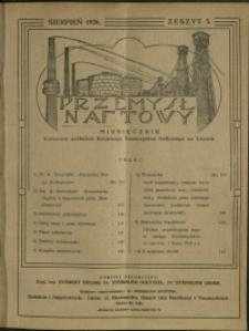 Przemysł Naftowy : 1926 : nr 5
