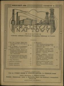 Przemysł Naftowy : 1926 : nr 6