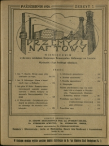 Przemysł Naftowy : 1926 : nr 7