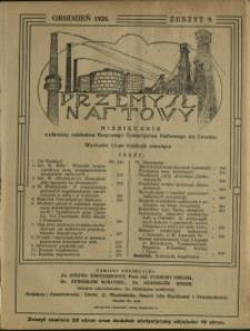 Przemysł Naftowy : 1926 : nr 9
