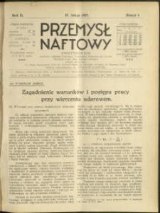 Przemysł Naftowy : 1927 : nr 4