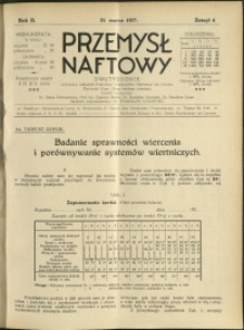 Przemysł Naftowy : 1927 : nr 6