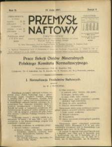 Przemysł Naftowy : 1927 : nr 9