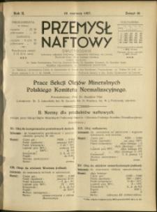 Przemysł Naftowy : 1927 : nr 10