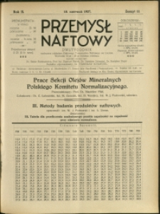 Przemysł Naftowy : 1927 : nr 11