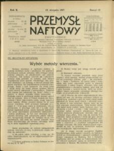Przemysł Naftowy : 1927 : nr 15