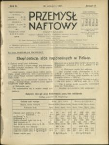 Przemysł Naftowy : 1927 : nr 17