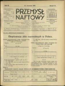 Przemysł Naftowy : 1927 : nr 18