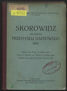 Skorowidz polskiego przemysłu naftowego 1920