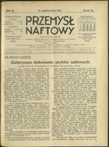 Przemysł Naftowy : 1927 : nr 20