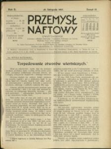 Przemysł Naftowy : 1927 : nr 21