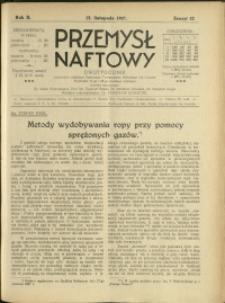 Przemysł Naftowy : 1927 : nr 22