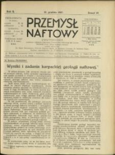 Przemysł Naftowy : 1927 : nr 23