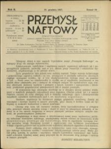 Przemysł Naftowy : 1927 : nr 24