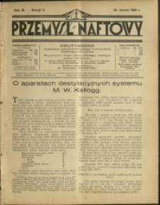 Przemysł Naftowy : 1928 : nr 6