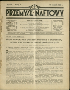 Przemysł Naftowy : 1928 : nr 7