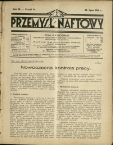 Przemysł Naftowy : 1928 : nr 14