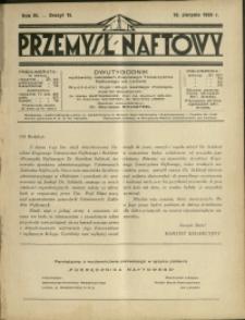 Przemysł Naftowy : 1928 : nr 15