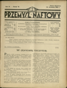 Przemysł Naftowy : 1928 : nr 18 ; Numer Zjazdowy