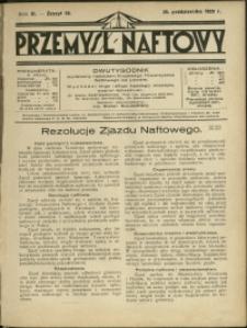 Przemysł Naftowy : 1928 : nr 20