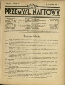 Przemysł Naftowy : 1928 : nr 21