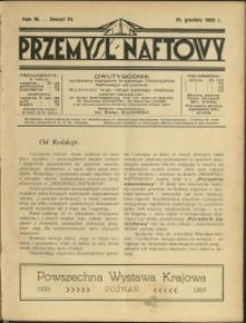 Przemysł Naftowy : 1928 : nr 24