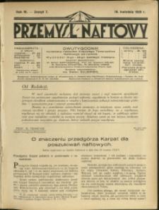 Przemysł Naftowy : 1929 : nr 7