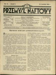 Przemysł Naftowy : 1929 : nr 8
