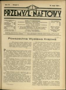 Przemysł Naftowy : 1929 : nr 9
