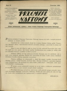 Przemysł Naftowy : 1929 : Zeszyt jubileuszowy wydany z okazji 50-lecia Krajowego Towarzystwa Naftowego