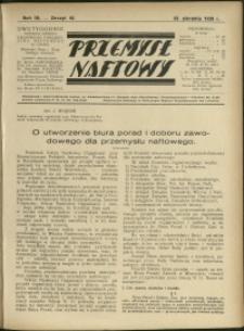 Przemysł Naftowy : 1929 : nr 16