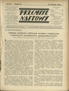 Przemysł Naftowy : 1929 : nr 21