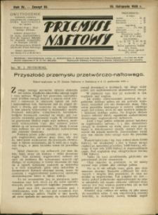 Przemysł Naftowy : 1929 : nr 22
