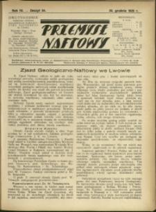 Przemysł Naftowy : 1929 : nr 24