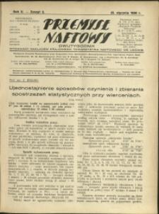 Przemysł Naftowy : 1930 : nr 2