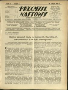 Przemysł Naftowy : 1930 : nr 3