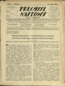 Przemysł Naftowy : 1930 : nr 5