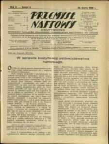 Przemysł Naftowy : 1930 : nr 6