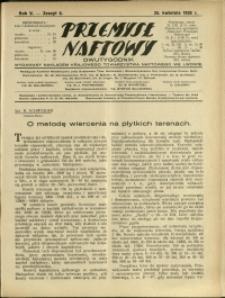 Przemysł Naftowy : 1930 : nr 8