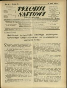 Przemysł Naftowy : 1930 : nr 10