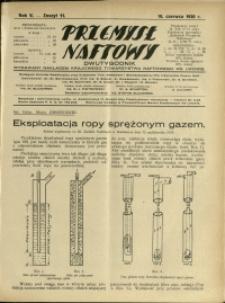 Przemysł Naftowy : 1930 : nr 11