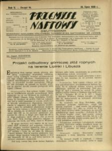 Przemysł Naftowy : 1930 : nr 14